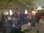 Dinner guests enjoy the ambiance and delectable cuisine at the 2012 Silent Auction