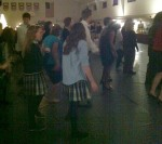 Students hit the dance floor along with teachers and guests during the 2012 Silent Auction.
